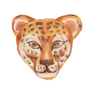 Zwierzęta kreskówka ładny kagańce w stylu skandynawskim. ręcznie rysowane ilustracja dzieci. zestaw akwareli. wzór. drukuj realizm tekstyliów