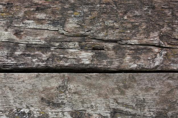 Zwietrzała drewniana tekstura z pęknięciami