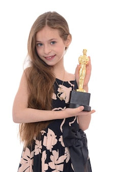 Zwycięzca dziewczyna z nagrodą
