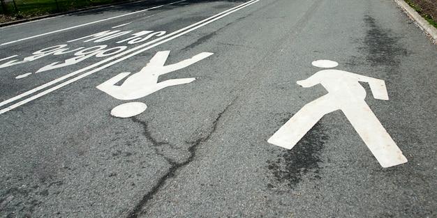 Zwyczajny skrzyżowanie podpisuje wewnątrz central park, manhattan, miasto nowy jork, stan nowy jork, usa