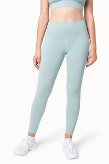 Zwykłe niebieskie spodnie do jogi odzież sportowa