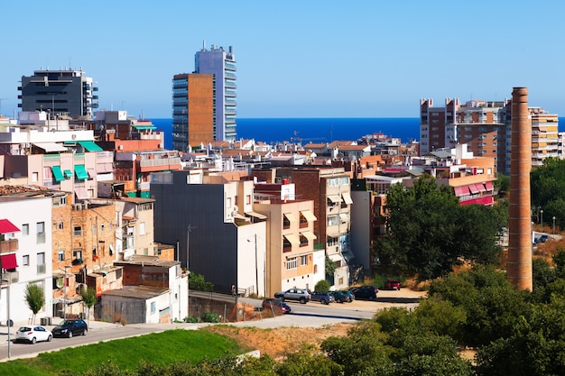Zwykły widok śródziemnomorskiego miasta