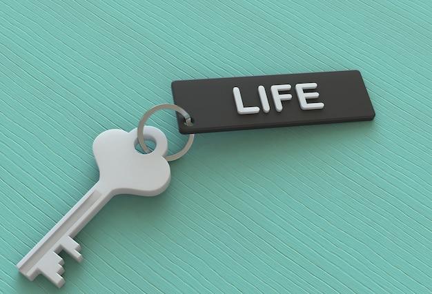 Życie, wiadomość na keyholder, renderowanie 3d