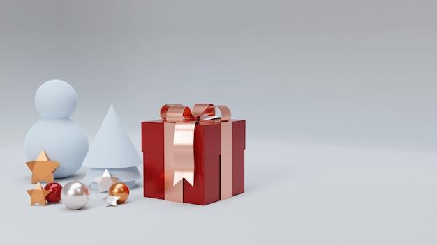 Życzenia Bożonarodzeniowe Z Realistycznymi Elementami Dekoracji Premium Zdjęcia