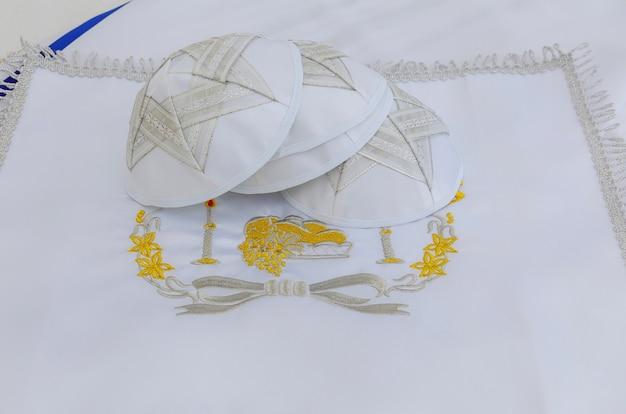 Żydowski symbol religijny bar mitzhvah modlitwa szal - tallit, żydowski symbol religijny