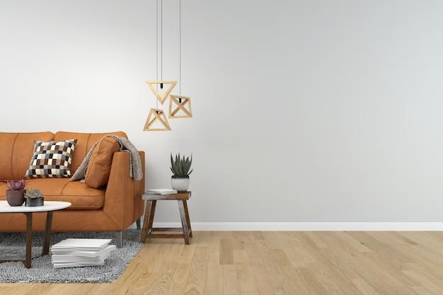 Żywego pokoju wewnętrznego tła drewniana podłoga