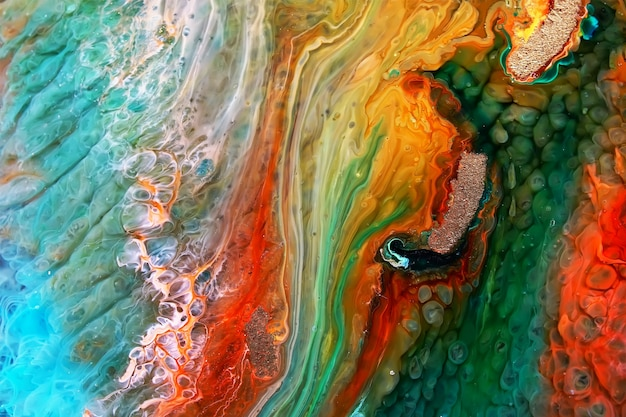 Żywica epoksydowa petri dish art abstract background