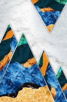 Żywiczna geoda i sztuka abstrakcyjna sztuka użytkowa, taka jak akwarela geoda malarstwo złoty niebieski turkus
