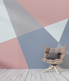 Żywy izbowy wewnętrzny kolorowy ściany mockup z karło bielem kolorowym ściennym tłem