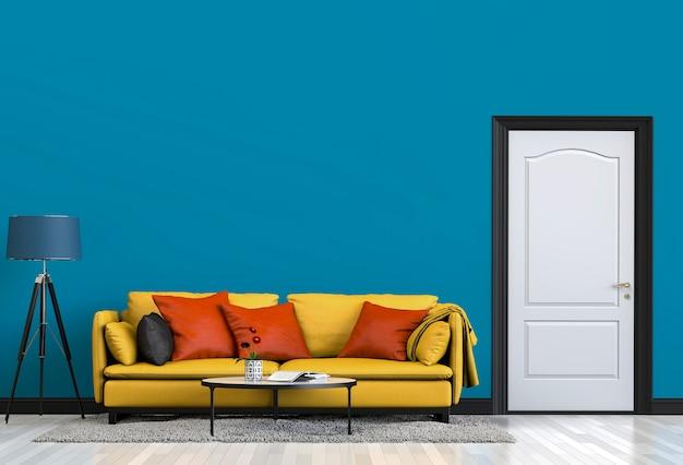 Żywy izbowy wnętrze w nowożytnym stylu, 3d odpłaca się
