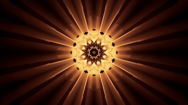 Żywy piękny abstrakcyjny wzór kwiatowy na tle w kolorach brązowym i żółtym