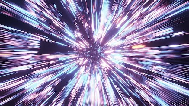 Żywy piękny abstrakcyjny wzór starburst na tle w kolorach niebieskim, fioletowym i różowym