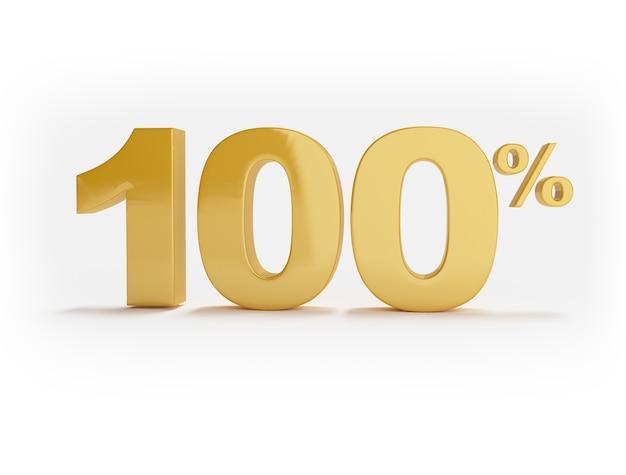 100% de descuento aislado en superficie blanca