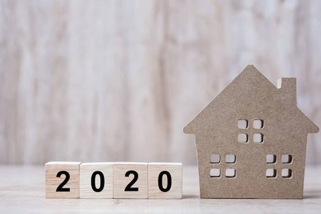 2020 feliz año nuevo con casa