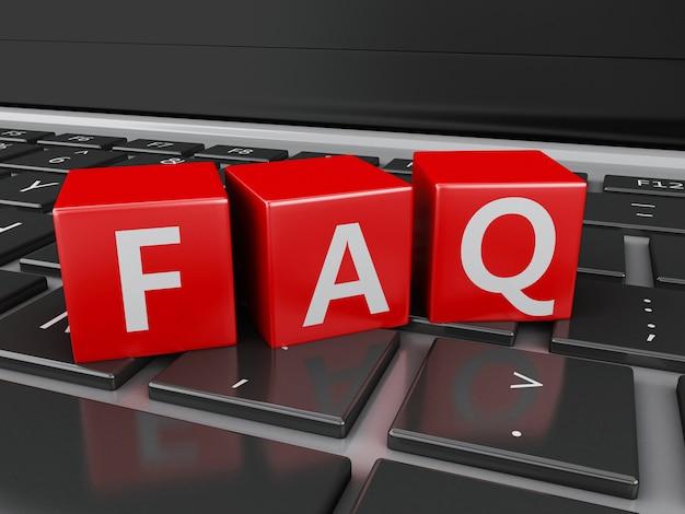 3d cerrar vista de cubos de preguntas frecuentes en el teclado