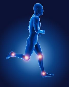 3d corriendo hombre médico
