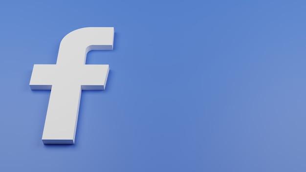 3d facebook logo icono fondo copia espacio