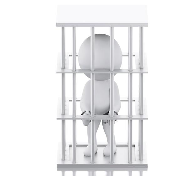 3d personas blancas en prisión.
