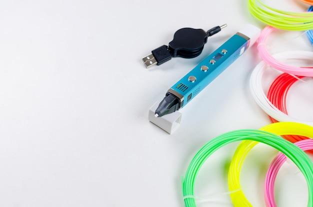 3d plástico arcoíris abierto y colorido pla
