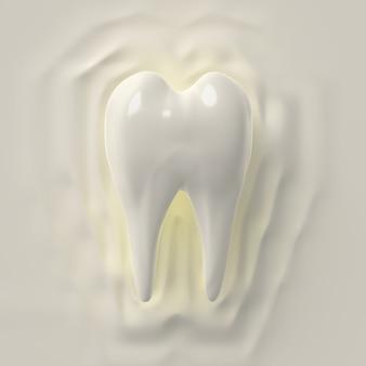 3d render diente limpio, blanqueamiento
