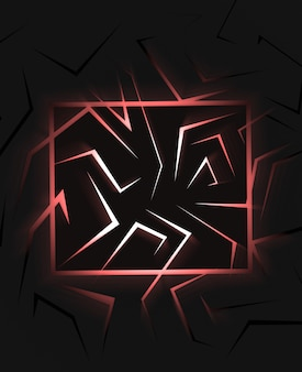 3d render fondo abstracto negro con vista superior de luz roja