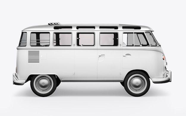 3d render hippie bus