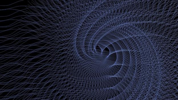3d render patrón de fondo de líneas abstractas remolinos