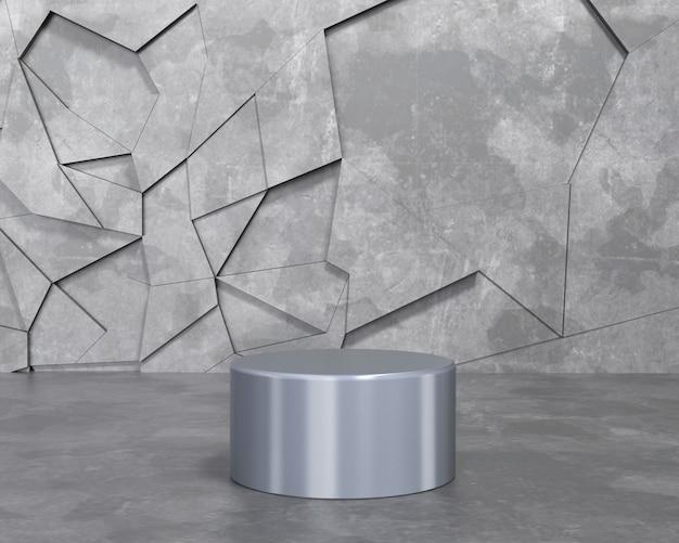 3d render resumen de antecedentes vacío podio, pedestal, escena