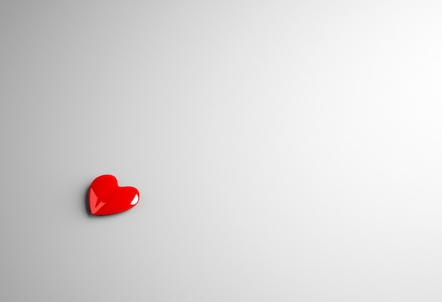 3d rendering corazón volumétrico brillante