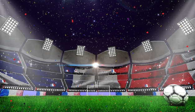 3d rendring de fondo del estadio