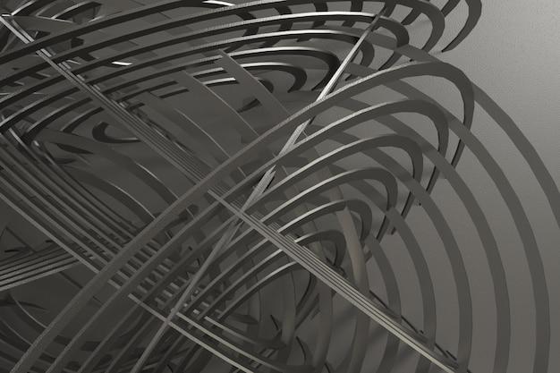 3d rinden el fondo abstracto
