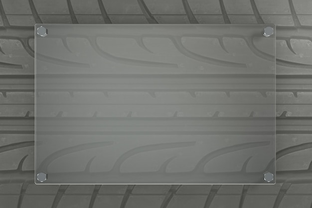 3d rinden fondo de neumático con formas de vidrio