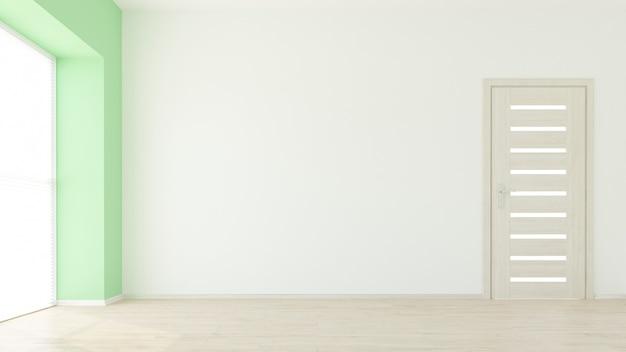 3d rinden de un interior moderno de la sala