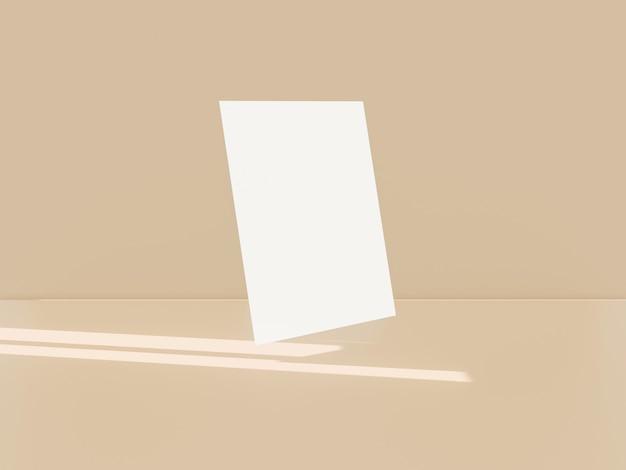 3d rinden de mack en blanco para el cartel, la tarjeta de visita o el aviador.