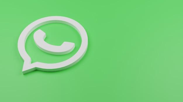 3d whatsapp logo icono fondo copia espacio