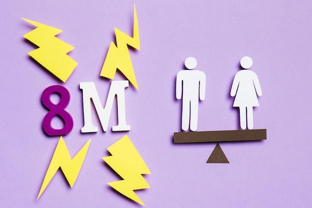 8 de marzo y equilibrio con mujer y hombre