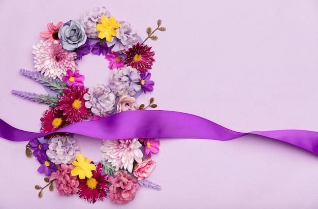 8 de marzo símbolo floral