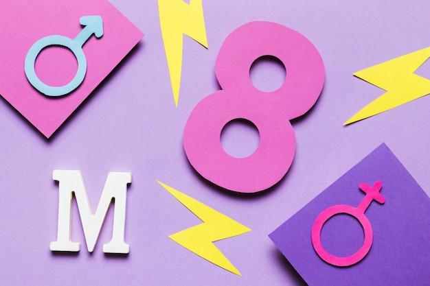 8 de marzo con truenos y signos de género