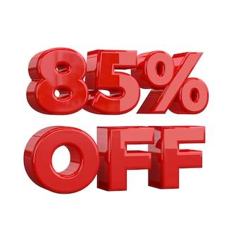 85% de descuento, oferta especial, gran oferta, venta. ochenta y cinco por ciento