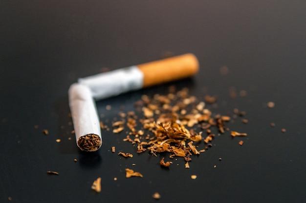 Abandonar la nicotina y el concepto abstracto del apego del tabaco. copia