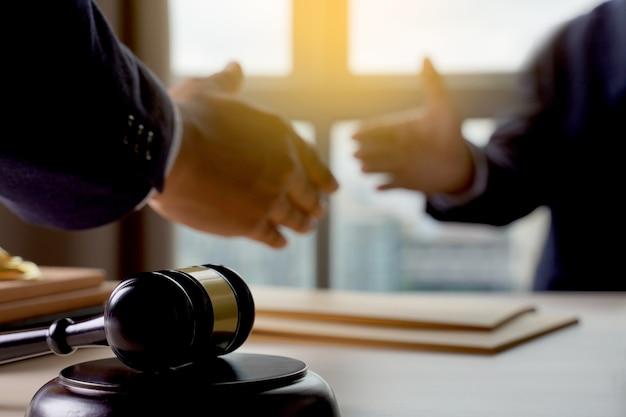 Abogado, abogado, concepto justicia, abogado, teniendo, equipo