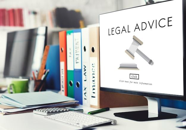 Abogado asesoramiento legal concepto de cumplimiento de la ley