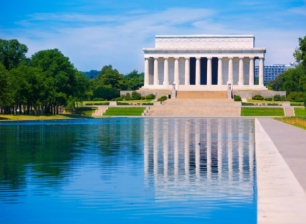 Abraham lincoln memorial reflexión piscina washington