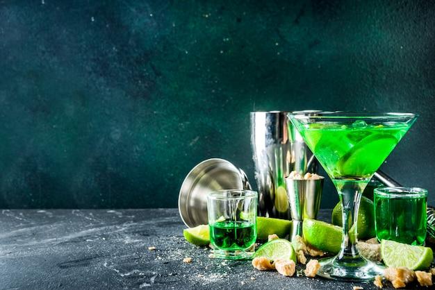 Absenta y vodka martini