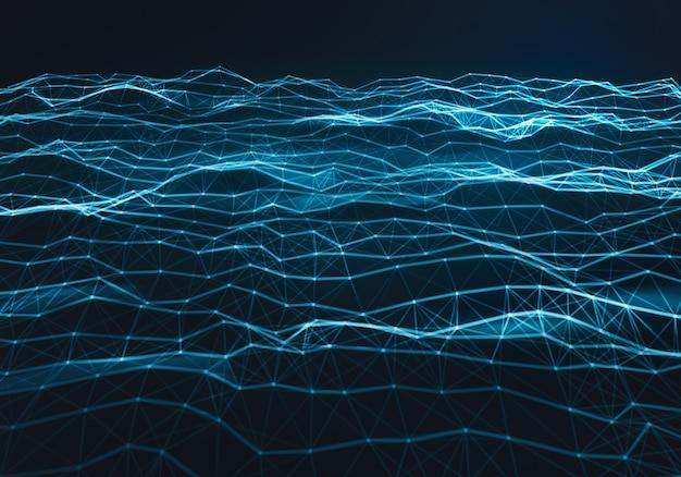 Abstracto poligonal luz azul espacio bajo fondo poli
