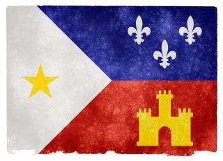 Acadiana grunge bandera negro
