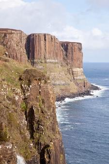 Acantilado de roca kilt