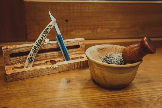 Accesorios de afeitado en un lujo