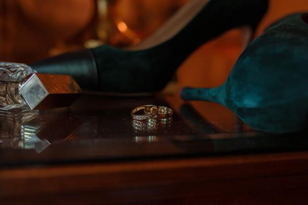 Accesorios de boda novia en el día de la boda