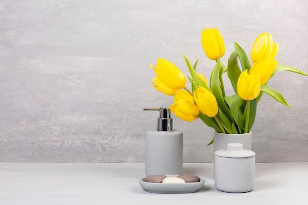 Accesorios de cerámica ligera pgray para baño